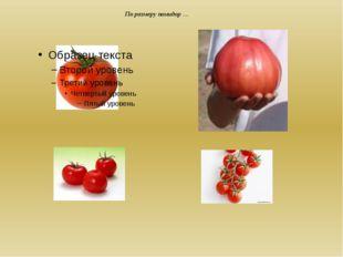 По размеру помидор …