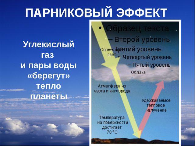 ПАРНИКОВЫЙ ЭФФЕКТ Углекислый газ и пары воды «берегут» тепло планеты