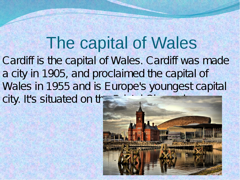 The capital of Wales Cardiff is the capital of Wales. Cardiff was made a cit...