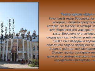 Театр кукол «Шут». Кукольный театр Воронежа начал свою историю с первого пред