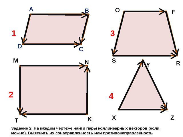 A B C D M N K T O F R S X Y Z 1 2 3 4 Задание 2. На каждом чертеже найти пар...