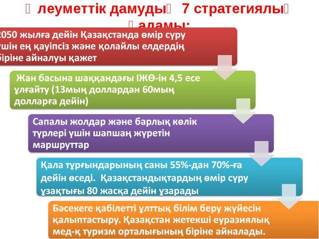 Әлеуметтік дамудың 7 стратегиялық қадамы: