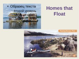 Homes that Float