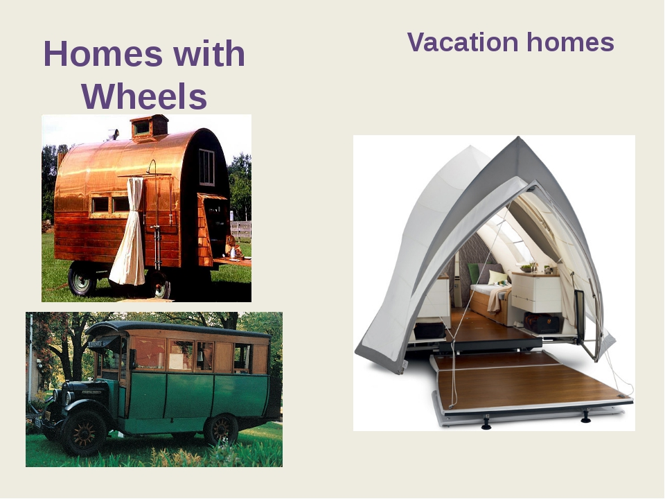 Homes with Wheels Vacation homes