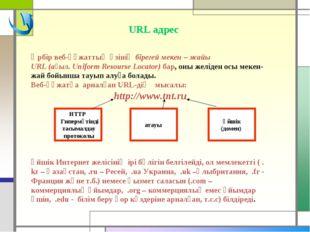 Әрбір веб-құжаттың өзінің бірегей мекен – жайы URL (ағыл. Uniform Resourse Lo