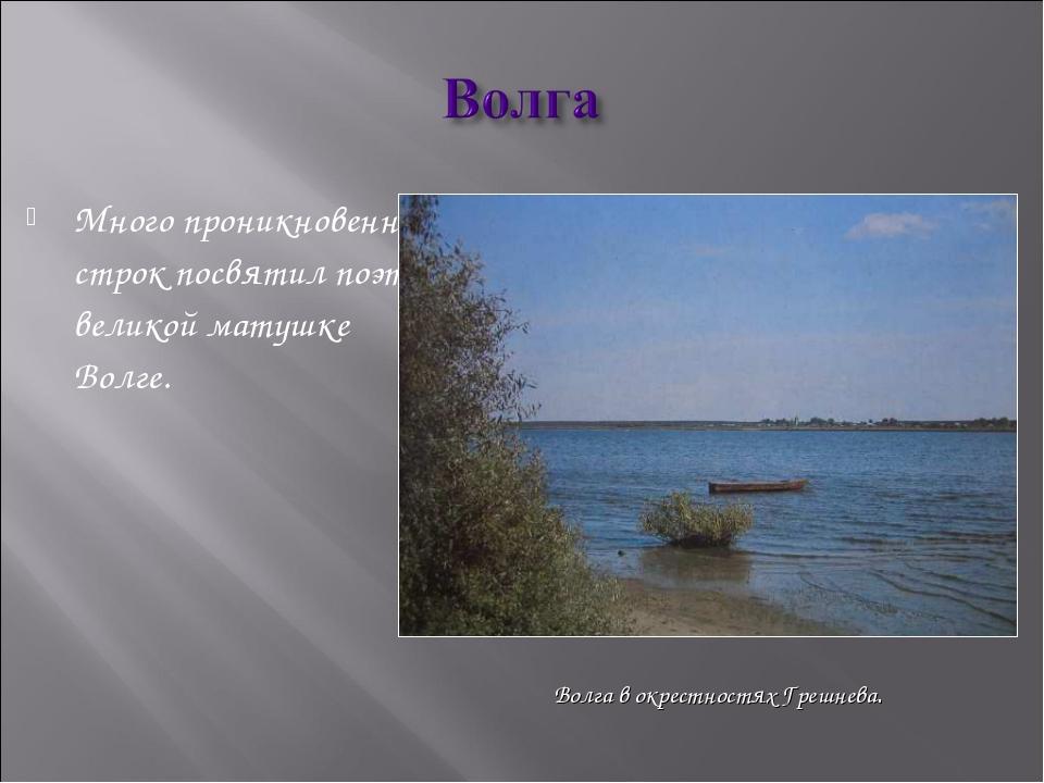 Много проникновенных строк посвятил поэт великой матушке Волге. Волга в окрес...