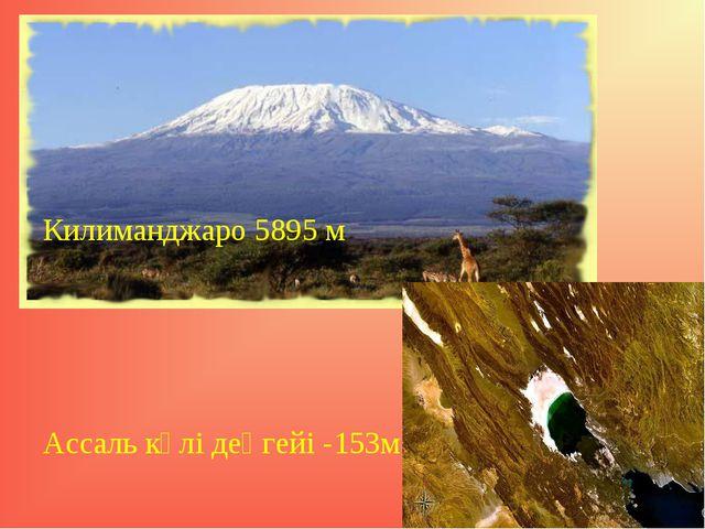 Килиманджаро 5895 м Ассаль көлі деңгейі -153м