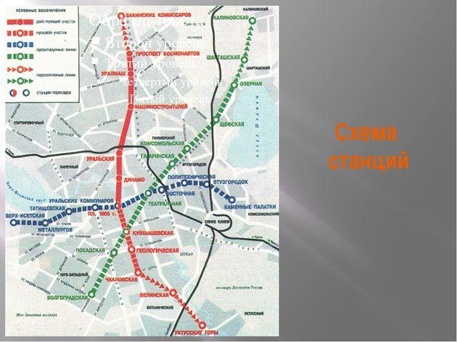 Схема станций