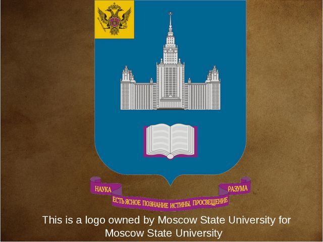 This is a logo owned byMoscow State Universityfor Moscow State University