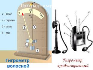 Гигрометр конденсационный Гигрометр волосной Приборы для измерения влажности