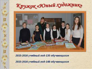 2015-2016 учебный год-135 обучающихся 2015-2016 учебный год-148 обучающихся