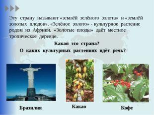 Эту страну называют «землёй зелёного золота» и «землёй золотых плодов». «Зел