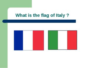 What is the flag of Italy ?