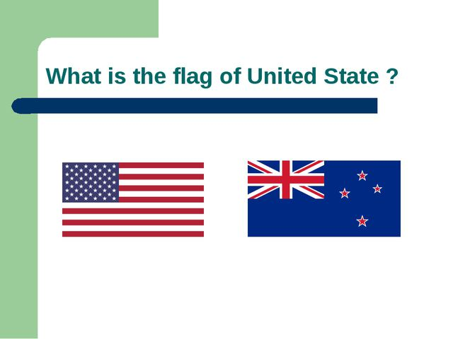 What is the flag of United State ?