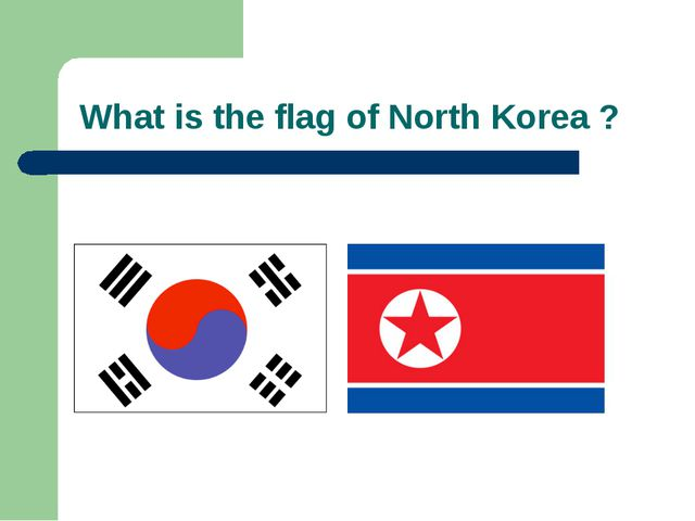 What is the flag of North Korea ?