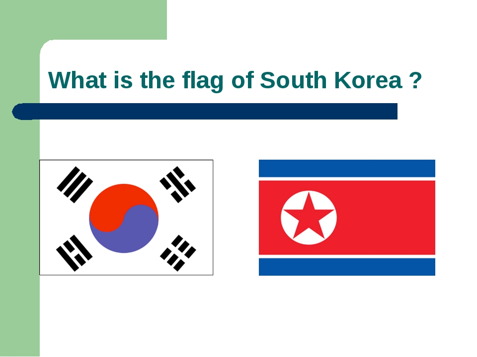 What is the flag of South Korea ?