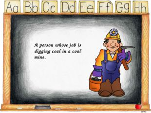 A person whose job is digging coal in a coal mine.