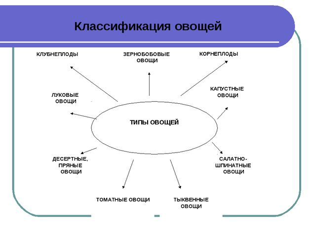 Классификация овощей