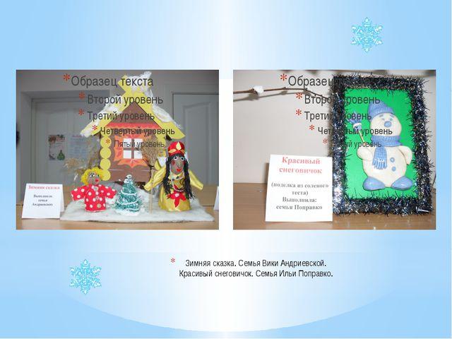 Зимняя сказка. Семья Вики Андриевской. Красивый снеговичок. Семья Ильи Поправ...