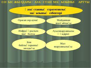 Қазақстанның стратегиялық маңызының себептері Орасан зор аумақ Майданнан шалғ