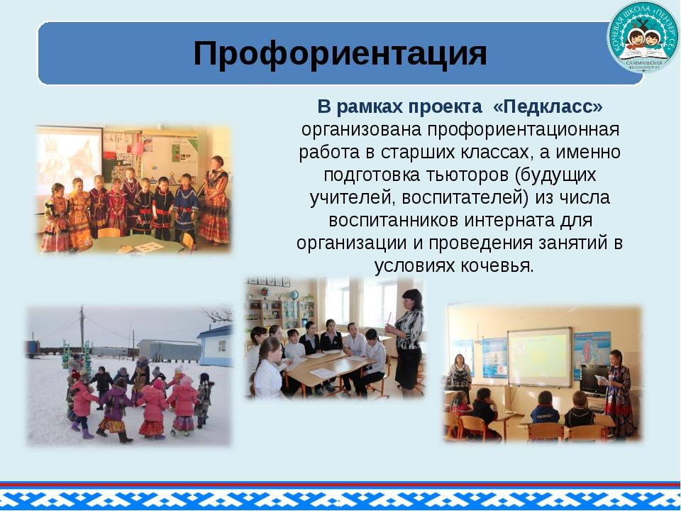 В рамках проекта «Педкласс» организована профориентационная работа в старших...