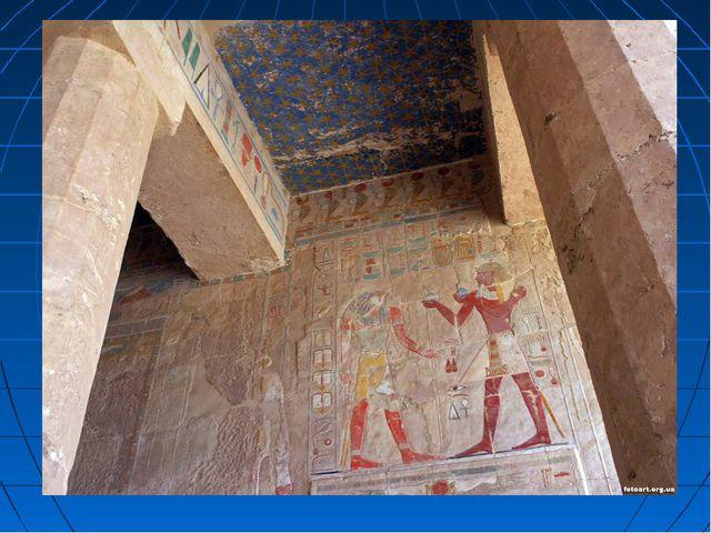 Наружные и внутренние стены зданий, а также колонны были покрыты иероглифами...