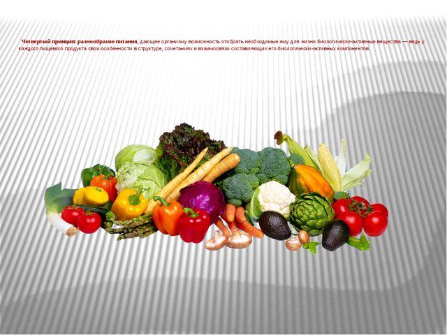 Четвертый принцип: разнообразие питания, дающее организму возможность отобра...