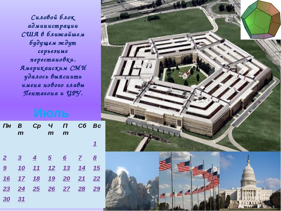Силовой блок администрации США в ближайшем будущем ждут серьезные перестановк...