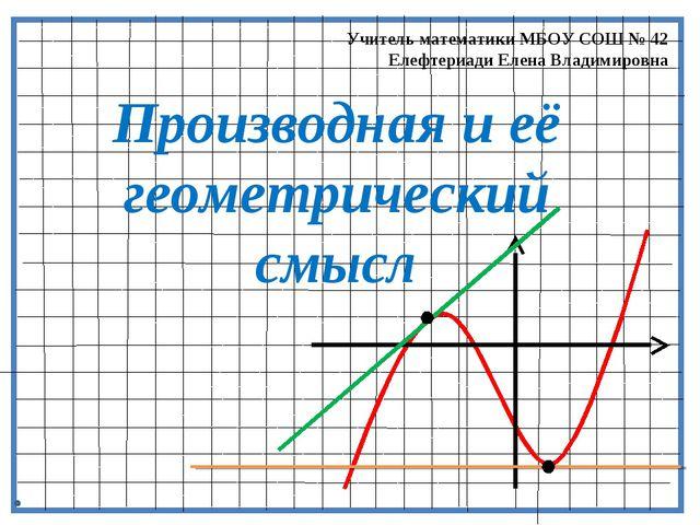 Производная и её геометрический смысл Учитель математики МБОУ СОШ № 42 Елефте...