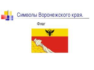 Символы Воронежского края. Флаг