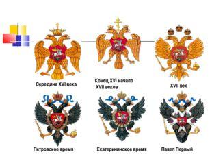 Середина XVI века Конец XVI начало XVII веков XVII век Петровское время Екате