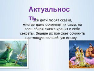 Все дети любят сказки, многие даже сочиняют их сами, но волшебная сказка хра
