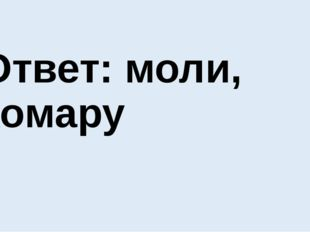Ответ: моли, комару
