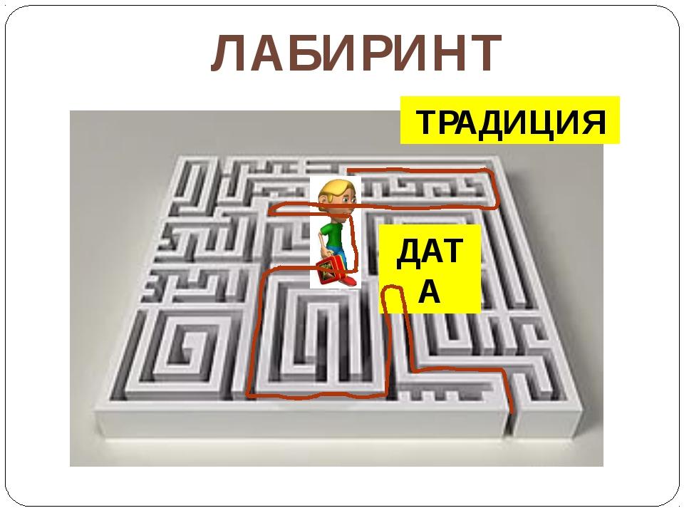 ДАТА ЛАБИРИНТ ТРАДИЦИЯ