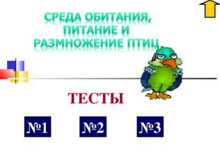 №1 ТЕСТЫ №2 №3