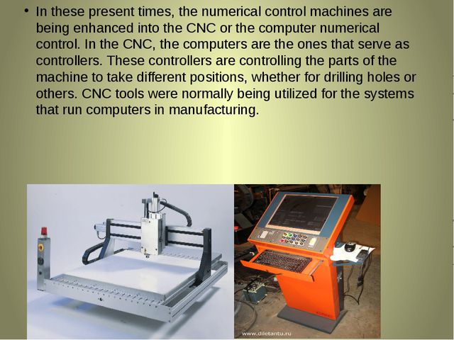 In these present times, the numerical control machines are being enhanced int...