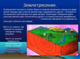 Землетрясения. В результате толчков из глубин Земли в течение нескольких секу