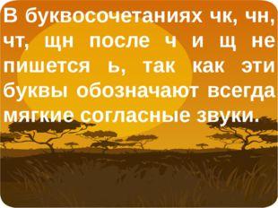 В буквосочетаниях чк, чн, чт, щн после ч и щ не пишется ь, так как эти буквы