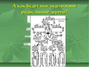 А как будет выглядеть ваше родословное дерево?