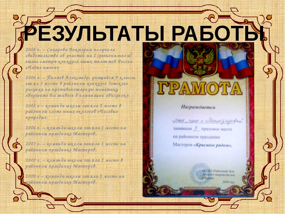 2008 г. – Сахарова Виктория получила свидетельство об участии на I (регионал...
