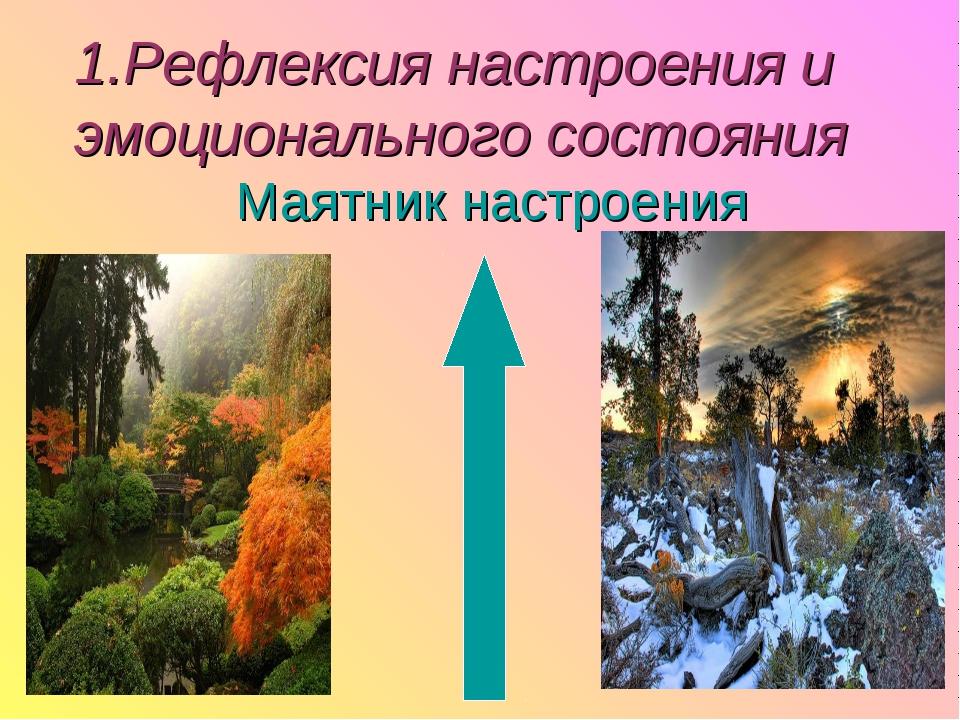 1.Рефлексия настроения и эмоционального состояния Маятник настроения
