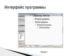 Интерфейс программы Рисунок 1