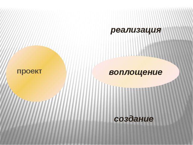 проект реализация воплощение создание