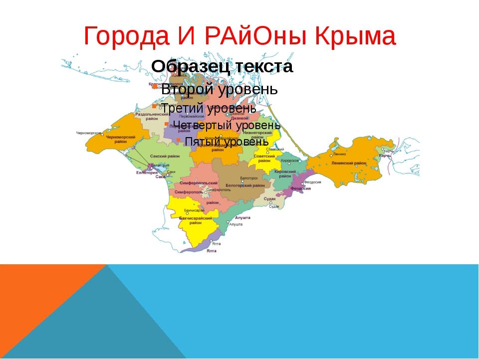 Города И РАйОны Крыма