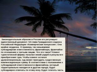 Законодательным образом в России его регулирует единственный документ: 54 гл