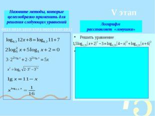 Назовите методы, которые целесообразно применить для решения следующих уравне