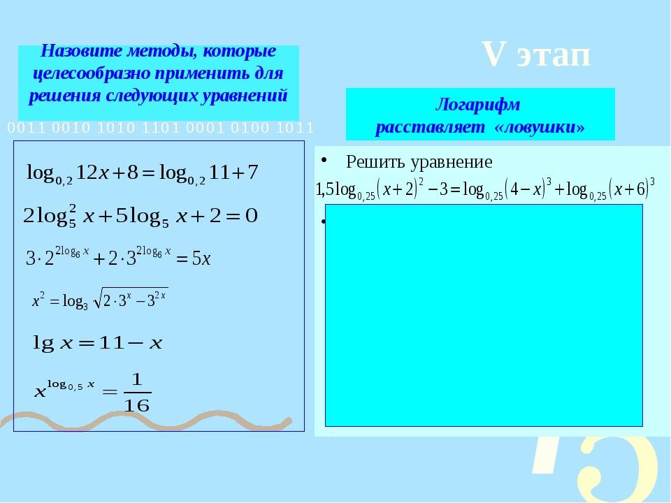 Назовите методы, которые целесообразно применить для решения следующих уравне...