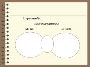 Қорытынды. Венн диаграммасы Мәтін Сөйлем