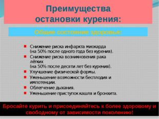 Преимущества остановки курения: Бросайте курить и присоединяйтесь к более здо