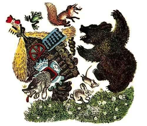 Сказка Теремок - Теремок сказка - Медведь